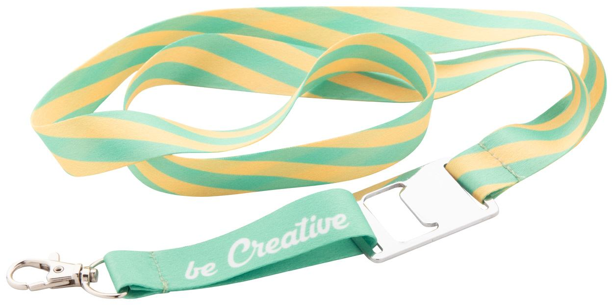 Full color lanyard met opener