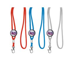 Lanyard met domed slider