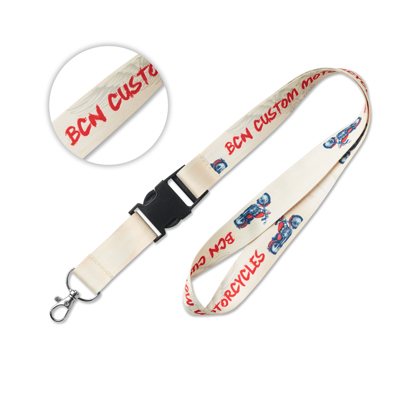 Full color lanyard met buckle